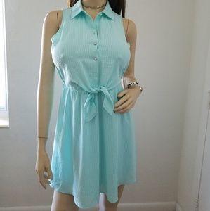 Candie's Sleeveless Shirt Dress for women